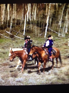 Riding the trails at C U Lazy Ranch